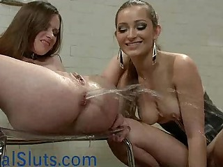 Babe gets enema and squirts..