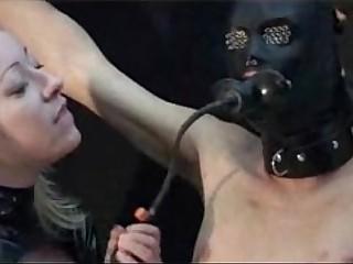 Mistress milking man
