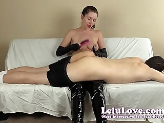 FemDom spanking his ass with..
