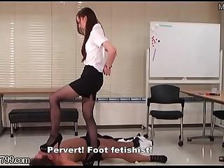 Japanese Femdom Foot Fetish..