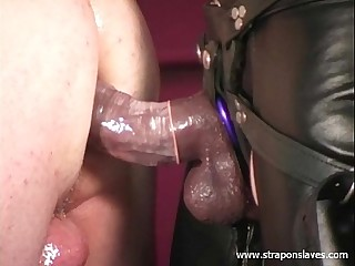 Crossdresser Strapon Fucked
