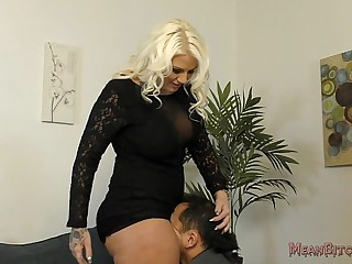 Lucky B Sits on Her..